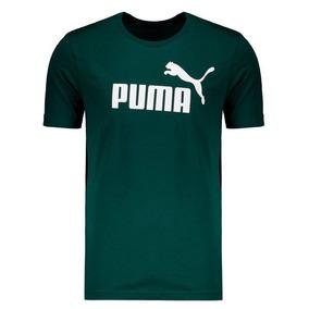 Camiseta Puma Essentials Logo Verde 57744665d94d4
