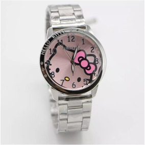 Reloj De Pulse Hello Kitty Metal Acero Inoxidable Dama
