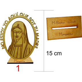 Cruces, Virgenes Corazon, Caliz De Madera Mdf 15cm