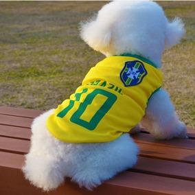 Roupa Pet Cães Gatos Brasil Roupas Pet Tam: M