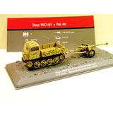 Tanque Steyr Rso 0/1 + Pak 40 Gun 1/72 Ixo Die Cast Metal