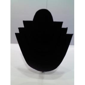 Cuello De Velour Triple / Exhibidor De Collares/ Negro