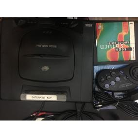 Sega Saturn Com Dois Controles E St Key