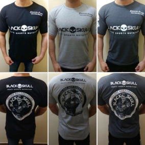 Kit 5pçs Camiseta Black Sckull Fitness Academia Promoção 49829dc457b