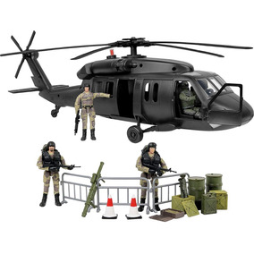 Black Hawk Attack Combat Helicopter 30 Peças Para G.i. Joe