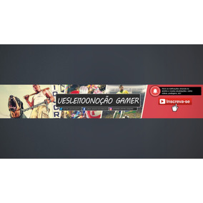 Criamos Banner Personalizado - Youtube/facebook/twitter