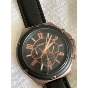 Relogio Michael Kors Masculino Mk 8115 Couro Marrom - Relógios De ... 69a504711e