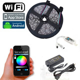 Cinta Led Wifi Inalambrica Rgb 5050 - 5m + Control + Fuente