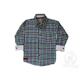 Camisa De Niño A Cuadros Verde