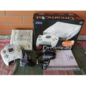 Sega Dreamcast Console Tectoy Na Caixa Funcionando
