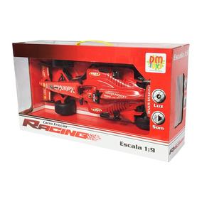 Carro De Fricção Racing Formula 1 Escala 1:9 Com Luz E Som