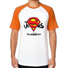 87302479c Camiseta Blusa Jesus Cristo Verdadeiro Herói Superman Super