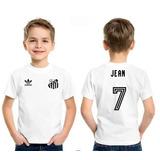Camisa Santos Peixe Infantil Retro + Nome + Numero