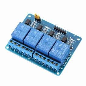 Módulo Relé 4 Canais 12v Com Optoacoplador - Arduino