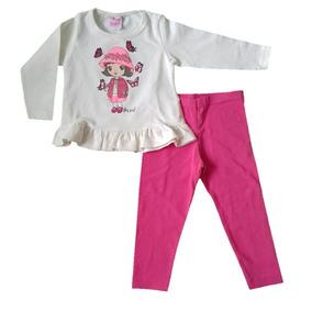 Roupa Infantil Meia Estação Feminino Blusa E Legging Tam. 2