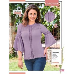 Blusa C/aplicacion/ Crochet Lavanda Cklass 996-04 Pv-2019
