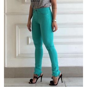 82eab110cc Calça Jeans Feminina Razon Calcas - Calças Feminino Verde claro no ...