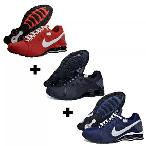 save off bc647 e6a59 Tênis Nike Shox Junior Originals Kit 3 Pares Frete Gratis