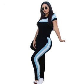 Conjunto Feminino Malha Crepe Tendencia Moda 2019 P M G