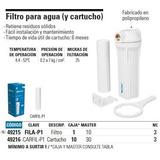 Filtro De Agua Cartucho Marca Foset