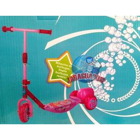 Monopatín Con Luces Música Y Maquina Burbujas Rosado Juguete