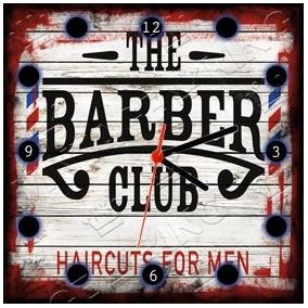 9a913887e21 Placa Relógio Vintage King Mdf 27x27 Barber Shop Cloqbc.0226. R  29 98