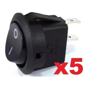 Chave Tic Tac De Plastico 2 Polos Redonda Preto Pct Com 5