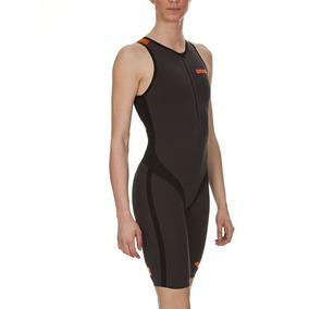 Macaquinho Fem Para Triathlon Trisuit Carbon Pro Front Zippe