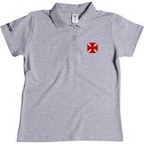 Camisa Camiseta Polo Feminina Do Vasco Blusa Vasco Da Gama