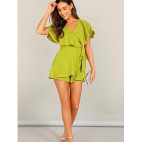 80a48226dff Jumpsuit De Short   Mono Cruzado Verde Mujer.   500