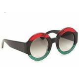 f3814edbf8bda Óculos Feminino Tendencia Blogueira Redondo Luxo Madame Chic