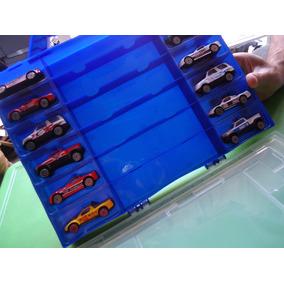 Maleta De Carros Racing World Con 12 Carritos Capacidad 24