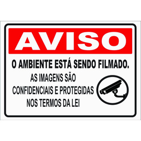Placa Monitoramento Pvc 1mm Adesivado 21x29cm A-4