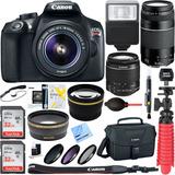 Kit Fotografico Canon Eos Rebel T6 +2 Lentes Oferta