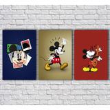 Placas Decorativas Desenho Mickey Fotos (conjunto)