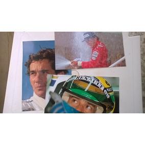 3 Pôsters Ayrton Senna - Gigante, Importado