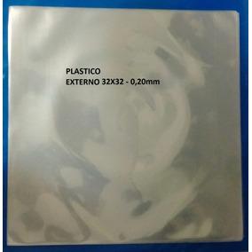 50 Plasticos Externo Para Lp Disco Vinil - 32x32 = 0,20mm