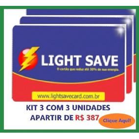 Economizador De Energia Light Save Card Kit 3 Com 3 Unid