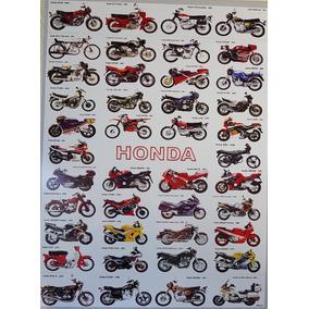 Pôster Moto Honda Vintage Quadro Honda Antiga