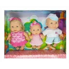 Bonecas Família 3 Irmãos Bee Baby Envio Rápido Linda