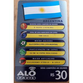 Cartão Telefônico Série Campeões Do Mundo - Argentina
