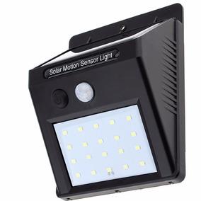 Luminária Solar Parede 20 Led Sensor Movimento Prova D