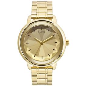Relógio Euro Feminino Glam Dourado - Relógios De Pulso no Mercado ... af9173bc54