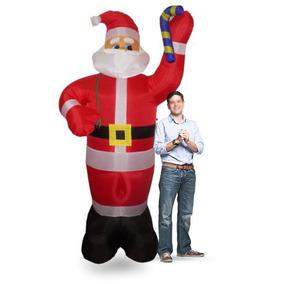 Papai Noel De Natal Eletrico Inflavel Gigante Natalino Festa