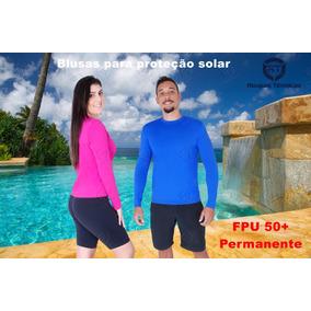 Blusa Térmica Segunda Pele Praia Piscina Proteção Solar Uv50. 3 cores. R  59 9455b42f7e678