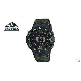 4c3a441a1af Relógio Casio Protrek Prg-300cm-3cr Bússola Barômetro Termom