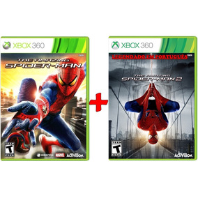 Spider Man The Amazing 1 E 2 Combo Kit 2 Jogos Xbox 360