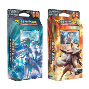 2 Decks Pokémon Sol E Lua 3 Lycanroc Ninetales Alola
