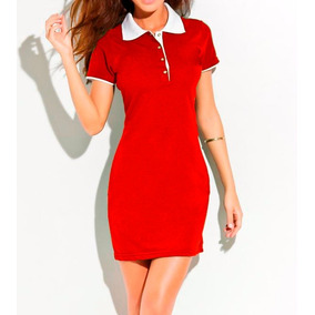 Vestido Polo Wear - Vestidos Casuais Curtos Femininas no Mercado ... 6eaf5a41c7a