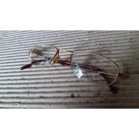 Armação Oculos Antigo Unissex Metal Dourado Alta Qualidad 34 7cc5ecc57a